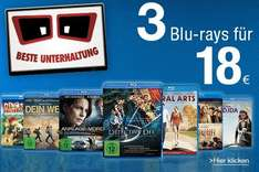 [Amazon.de] Blu-ray Aktion Koch Media: 3 für 18 €