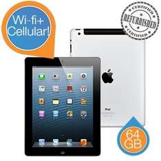 Apple iPad 4, 64 GB Wi-Fi + Cellular (Refurbished by Apple) für 405,90 € inkl. Versand @iBOOD