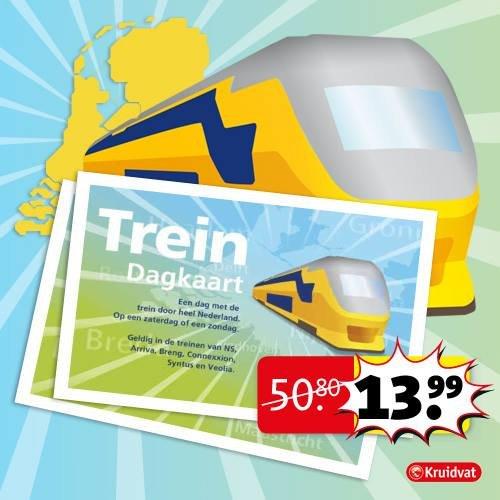 [Niederlande] NS Bahn Tageskarte für 13,99€ bei Kruidvat