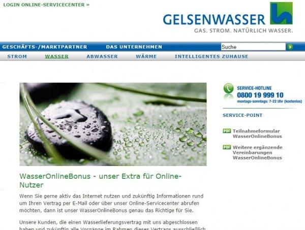 (Gelsenwasser-Kunden) 3x 10 Euro Gutschrift für Online-Abwicklung
