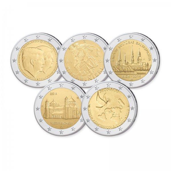 5x2 Euro incl. 2 Euro Kleinstaat Monaco für 10 Euro incl. Versand