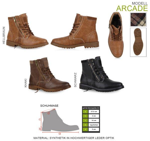 Ebay WoW: Moderne Herren Boots Lederoptik Schuhe Outdoor 99614 Gr. 39-45 Mens Special