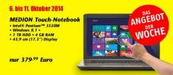 "[eBay u. Lokal-Essen] MEDION Touch-Notebook 43,9 cm/17,3"" HD; 4GB; 1TB für 379,99 Euro"
