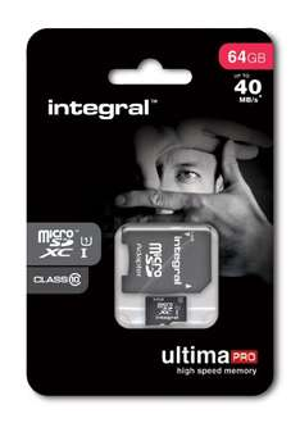 "Integral™ - 64GB microSDXC-Speicherkarte ""UltimaPro"" (UHS-I/Class 10,inkl.SD-Adapter) für €23,45 [@Mymemory.de]"