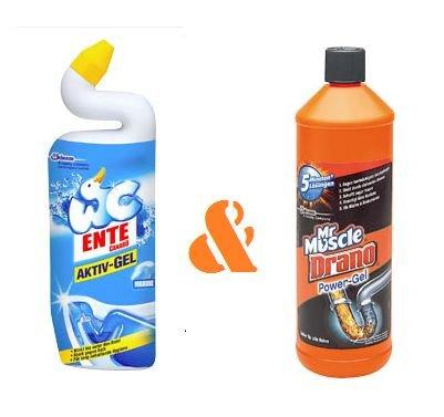 [KAUFLAND] WC Ente Aktiv-/Citrus-Gel 750ml für 1,06€/Stück oder Mr. Muscle Drano Power Gel 1,0l für 2,04€/Stück (außer BY+BW)