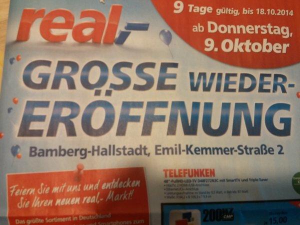 """[Lokal Bamberg] Real""""Wiedereröffnung"""" Gute Angebote!"""