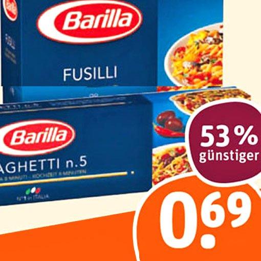 [tegut] Barilla Nudeln 53% günstiger