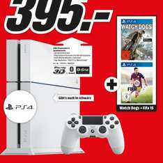 [Lokal Stuttgart] Playstation 4 in weiß + Fifa 15 + Watchdogs