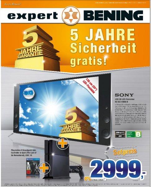 [Offline]Sony KD-55X9005B +Sony PS4 inc.The Last of us und 5 Jahren Garantie@Expert Bening