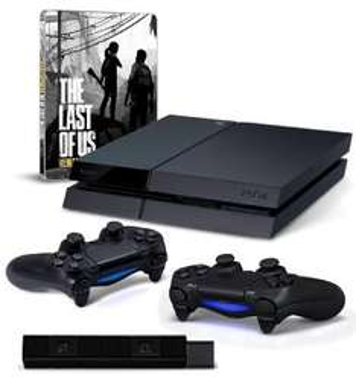 Amazon.de - Playstation 4 mit 500 GB und Controller + 1 Extra Controller + Camera + Last of Us Remastered - Steelbook Edition