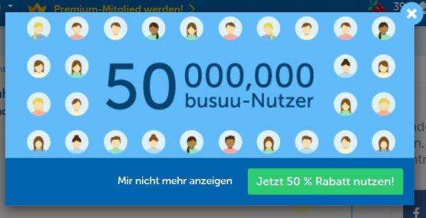 busuu.com - Sprachen lernen - 50% Rabatt auf Premium-Mitgliedschaften