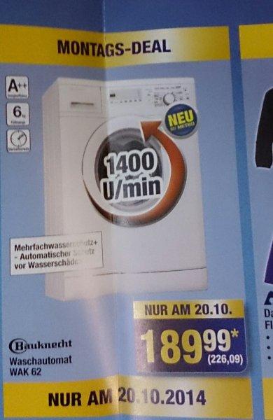 [Metro] Bauknecht Wak 62, 6kg, 1400 Umdrehungen, 226,09€