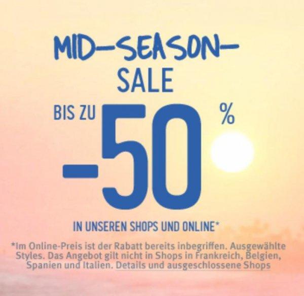 [Hollister] Mid-Season-Sale bis 50% Rabatt online und im Store + gratis Versand