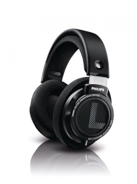 Philips SHP9500/00 HiFi-Kopfhörer mit 50mm Treibern, schwarz