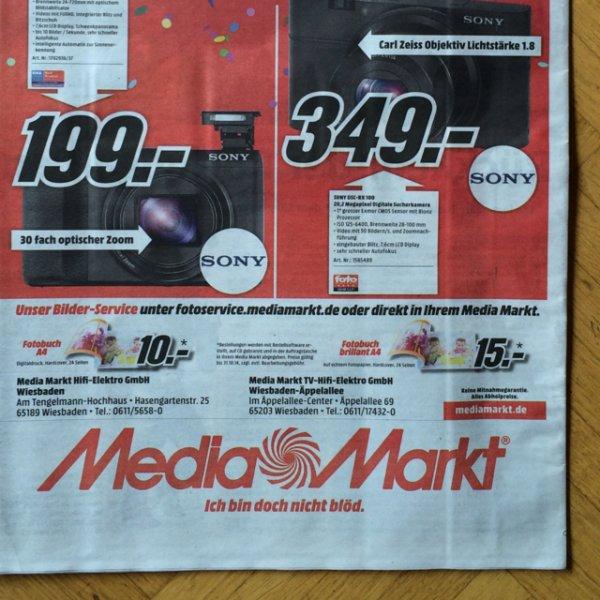 Sony RX 100 - Lokal - Mediamarkt Wiesbaden