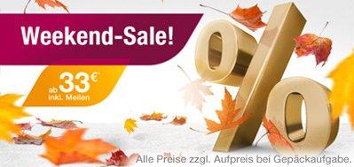 Germanwings Flugtickets wieder für 33 Euro zu haben