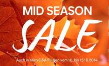 C&A Mid Season Sale mit 20% Gutschein - ca. 50% sparen -Fehler?