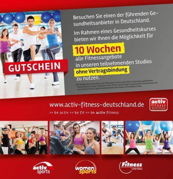 10 Wochen gesponserte Fitness ohne Vertragsbindung
