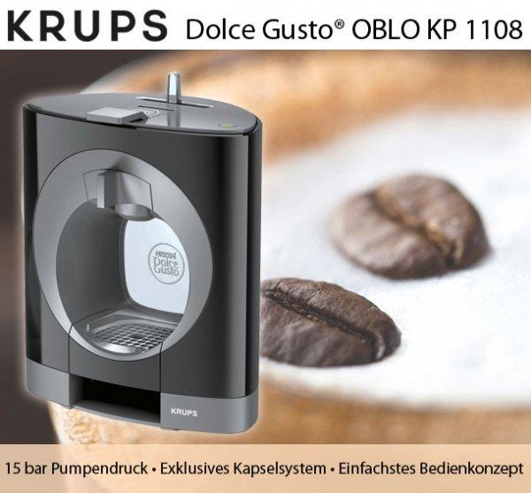 (Deltatecc) KRUPS KP 1108 Oblo Nescafe Dolce Gusto Maschine 44€ versandkostenfrei