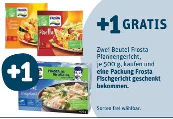 [TEGUT BUNDESWEIT] KW42: 2x Frosta Veggies 500g kaufen und 1x Frosta Fischgericht Gratis dazu (nur bis Donnerstag)