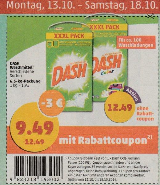 3€ Rabatt Coupon für Dash XXXL (6,5kg) bei Penny