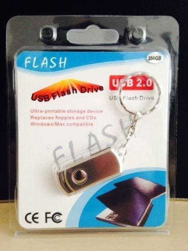 EUR19,99-(Ebay.de)256 GB USB 2.0 Stick Flash Drive Speicher Speicherstick Memorystick Silber CE