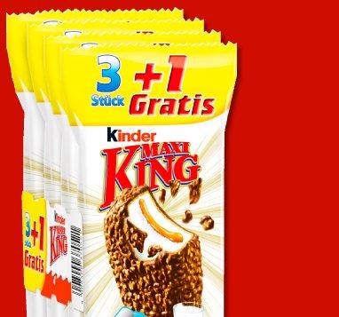 [Penny] KINDER Maxi King 3+1 für nur 0,99€