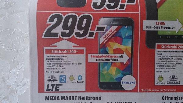 Sammelthread [LOKAL: Heilbronn] (nur von 13-18 Uhr!) verschiedene Angebote: z.B Samsung Galaxy S5 Mini für 299,- / HP Officejet 4636 für 69,-/ TrekStor SurfTab Ventos 7.0 8GB für 49,-