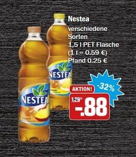 [HIT BUNDESWEIT KW 42] Nestea 1,5l PET Flasche für 0,88€ exkl. Pfand