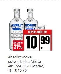 [OFFLINE/bundesweit] Absolut Wodka - diverse Sorten - 10,99€ EDEKA/Marktkauf