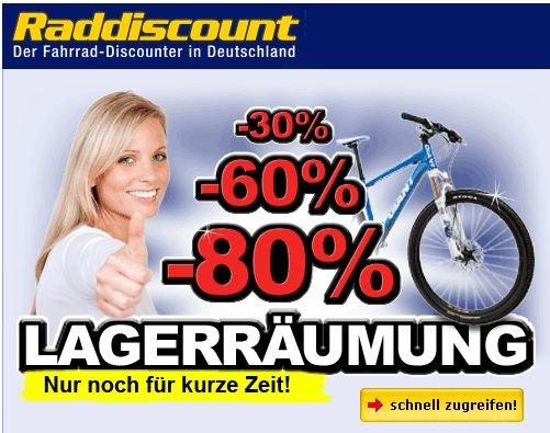 Lagerräumung bei raddiscount.de