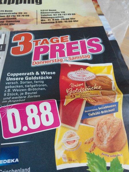 (Edeka Rhein Ruhr )  Coppenrath &Wiese  Brötchen tk versch.Sorten  für 0,88€