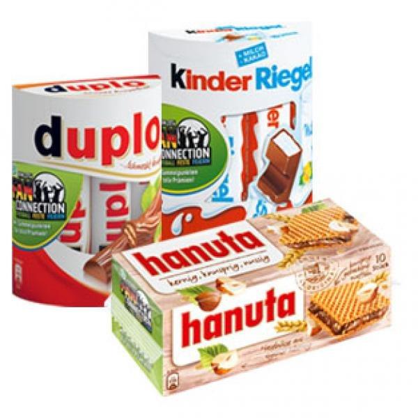 Duplo, Hanuta, Kinder-Riegel, Country oder Bueno - ab 3 Stück je Packung 1,29€  - REWE und Kaufpark -