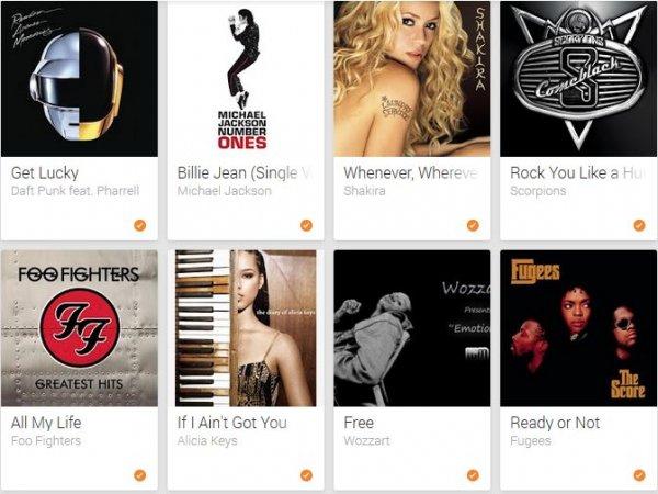 Gratis über 250 Titel auf Google Play Musik
