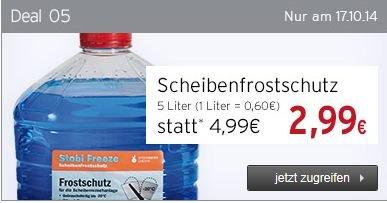 [Offline]Scheibenfrostschutz Readymix (-20 Grad) 5 L für 2,99.Nur am 17.10@ATU