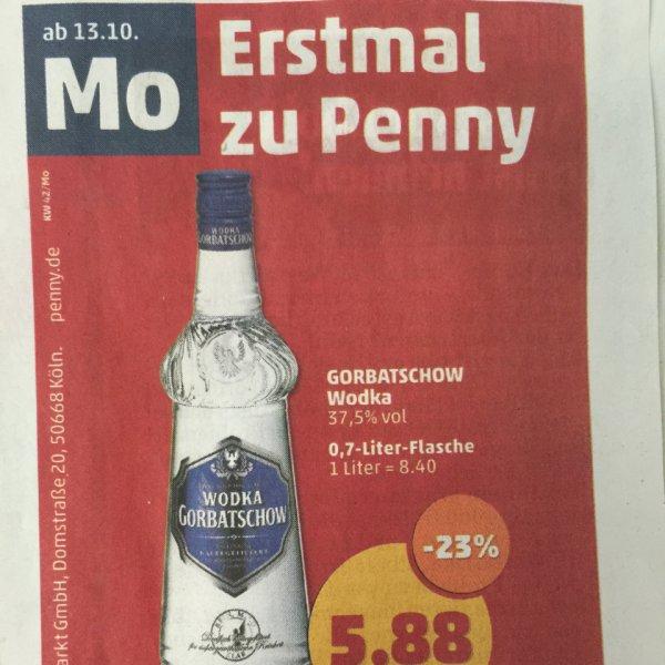 [Lokal?] Gorbatschow Wodka, 0,7 Liter-Flasche