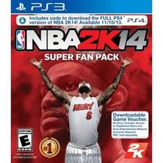 NBA2K14 Super Fan Pack (PS3 & PS4) (US-Digital) für 25,14€ @Play Asia