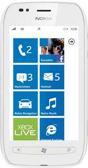 Nokia Lumia 710 - Weiß Windows Smartphone 5MP Kamera 8GB Speicher GPS Navigation  [Retour Geräte] @ Ebay