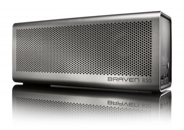 Braven 850 HD, portabler HighEnd Lautsprecher mit 20h Laufzeit, 20 Watt, APTX und Alu Gehäuse statt 265€