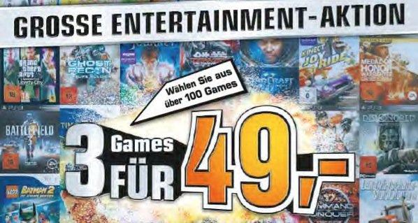 Saturn 3 Games für 49 € - Online & Offline