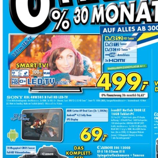 Sony 48w585 499,- regional Ratingen
