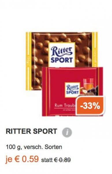 Rittersport 100g für 59 Cent bei Müller Drogerie *Bundesweit*