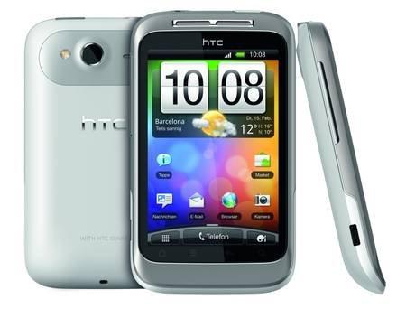 mein paket: Android Smartphone: HTC Wildfire S mit 5MP Kamera, Touchscreen, GPS, WLAN für 44,90€ Android 4.x möglich