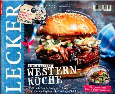 Zeitschrift Lecker mit 30€ Universalgutscheinprämie bei 35€ Abokosten