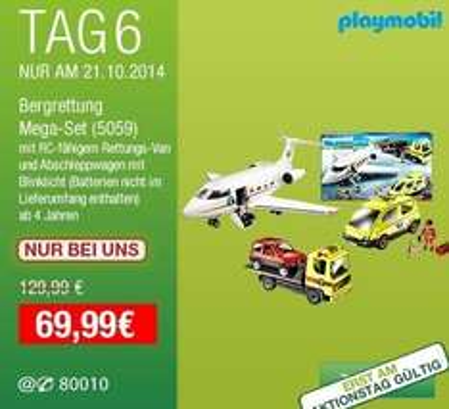Galeria Kaufhof (Tagesangebot 21.10.) Playmobil Bergrettung Mega Set