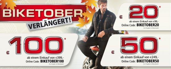 Polo Motorrad: Rabatt-Aktion: 20 Euro ab 99 Euro, 50 Euro ab 249 Euro, 100 Euro ab 399 Euro *AUCH HJC, Schuberth, Held etc.*