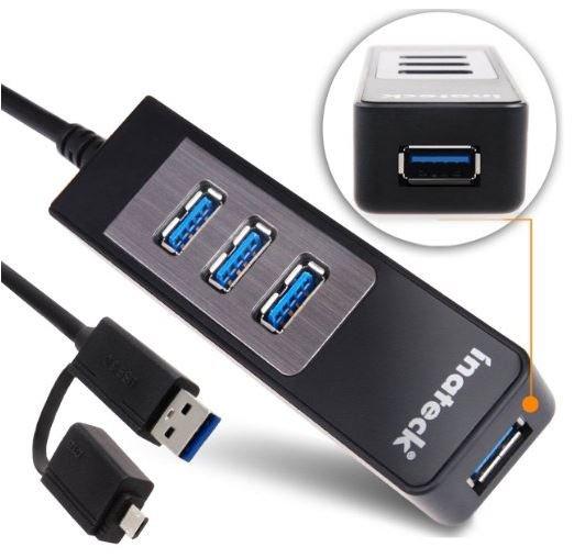 Inateck USB 3.0 Hub 4 port mit OTG statt 15,49 für 10,49 (-5€ mit Gutscheincode!) kostenloser Versand mit Prime