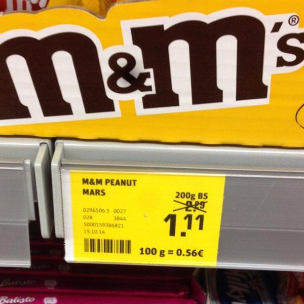 [REWE Bundesweit]M&M's div. Sorten für 1,11€ statt ~2.29€/2,79€