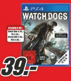 Watchdogs für Playstation 4 und Xbox One @MediaMarkt Flyer