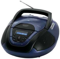 Clatronic SR 827 CD-Radio mit MP3, CD-Radio, Radiorecorder, UKW, Schwarz/Blau @digitalo.de 19,98€ VSK-frei